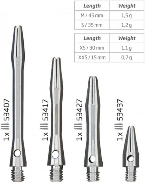 Dartschäfte BULLS Simplex Aluminium Shaft